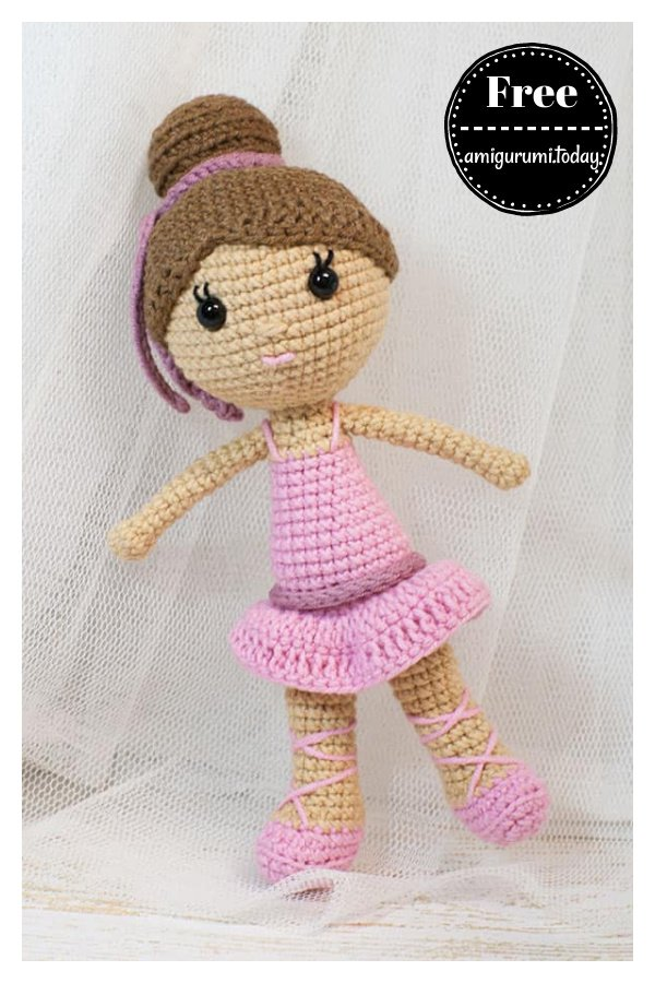 Ballerina Doll Amigurumi Free Crochet Pattern