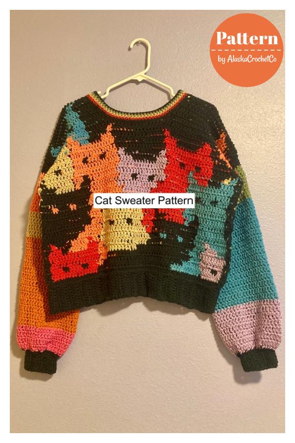 Cat Sweater Crochet Pattern
