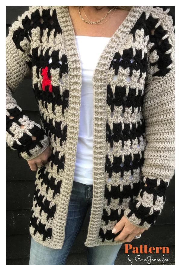 Cats Cardigan Sweater Crochet Pattern