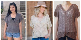 Easy V-Neck Top Free Crochet Pattern