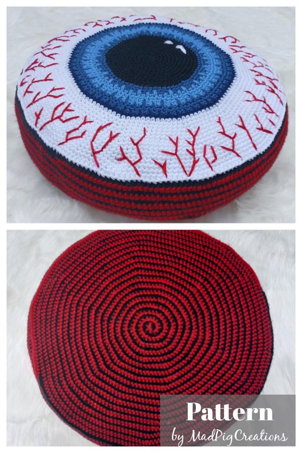 Eyeball Pillow Crochet Pattern