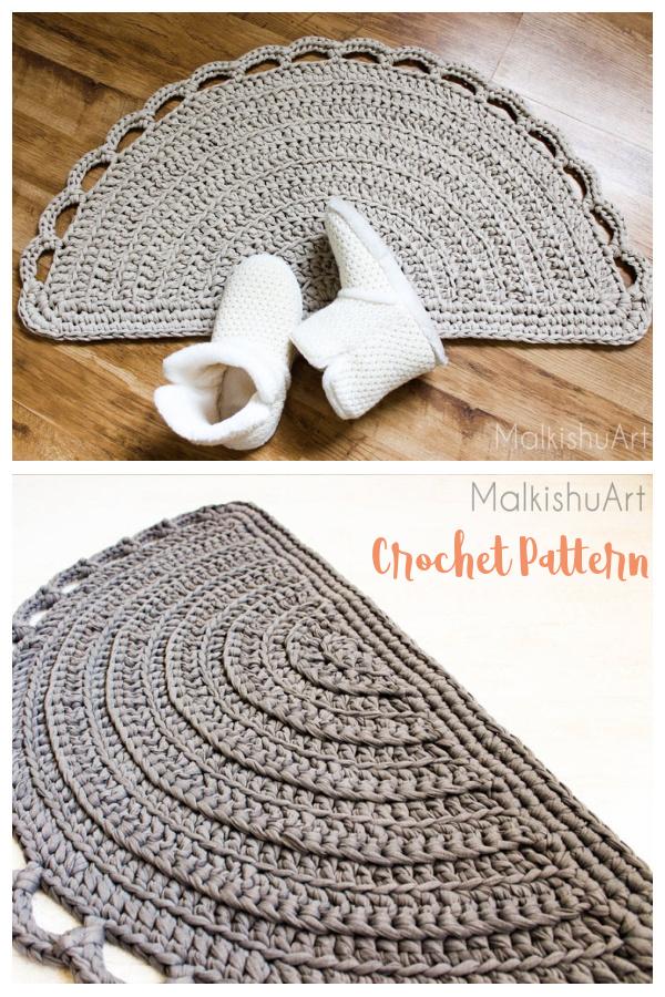 Half Moon Rug Crochet Pattern