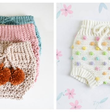 High Waisted Baby Bloomers Free Crochet Pattern
