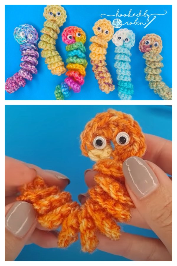 How to Crochet Worry Worm Video Tutorial