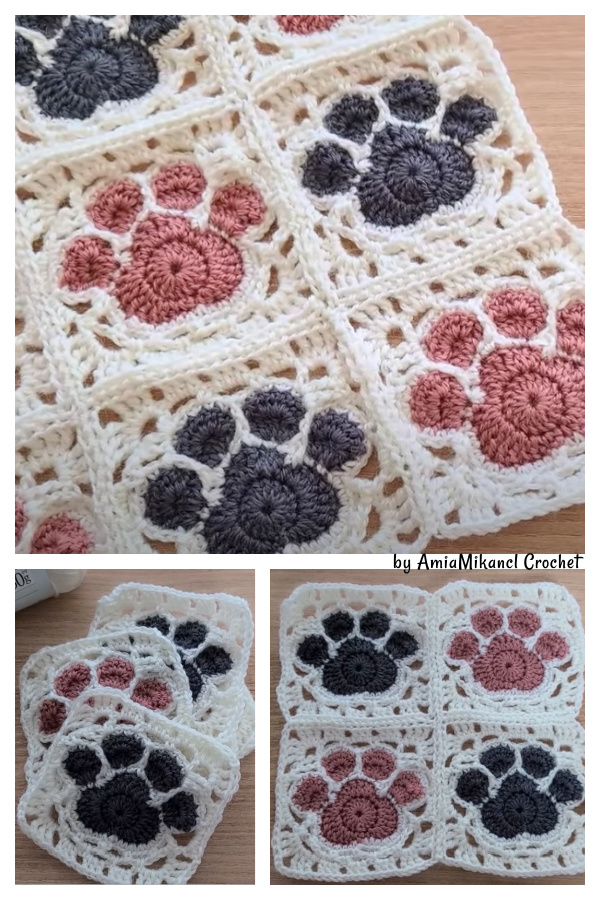 How to Join Paw Print Motifs Video Tutorial