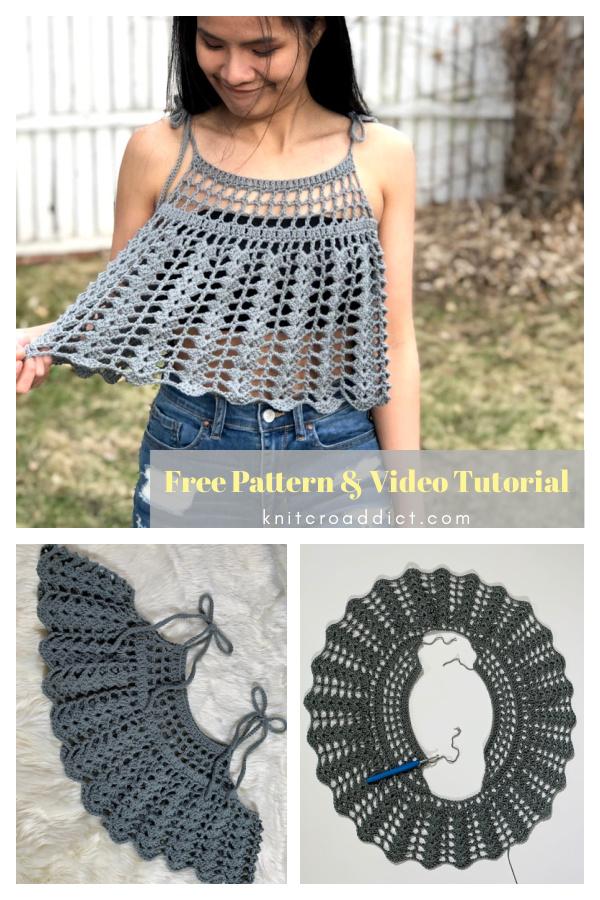 Lace Shell Circle Swing Tank Top Free Crochet Pattern