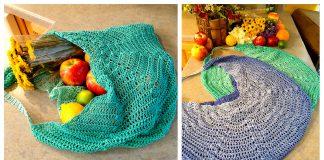 Large Mesh Market Bag Free Crochet Pattern