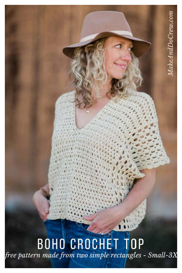 Poncho-Style Summer Crochet Top Free Pattern