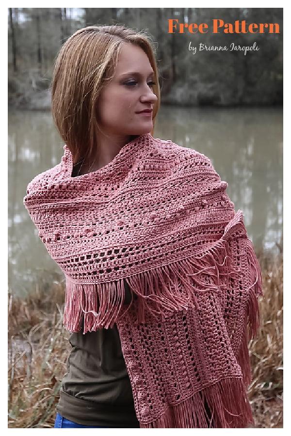 Sampler Shawl Free Crochet Pattern