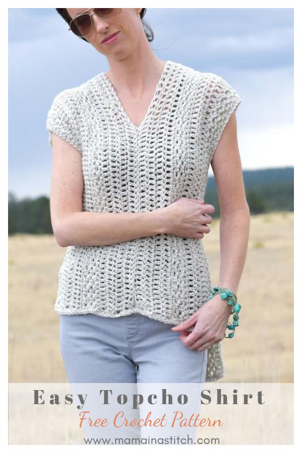 The Topcho Easy Crochet Shirt Free Pattern