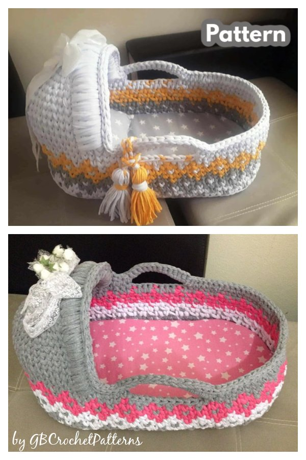 Baby Moses Basket Crochet Patterns