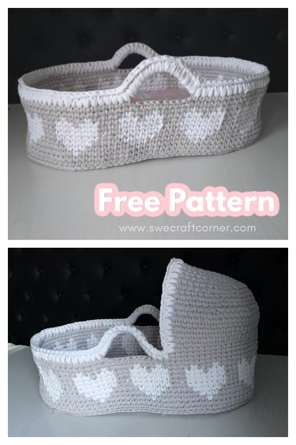 Baby Moses Basket Free Crochet Pattern