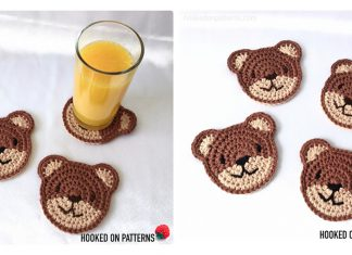 Bear Coasters Free Crochet Pattern