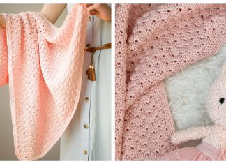 Dainty Shells Baby Blanket Free Crochet Pattern
