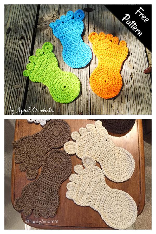 Happy Foot Free Crochet Pattern