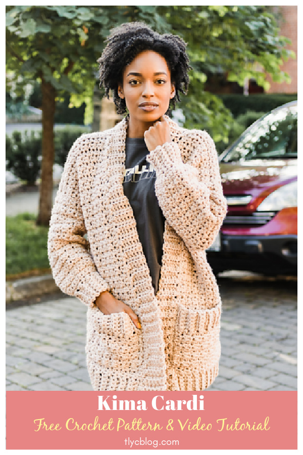 Kima Cardi Free Crochet Pattern and Video Tutorial
