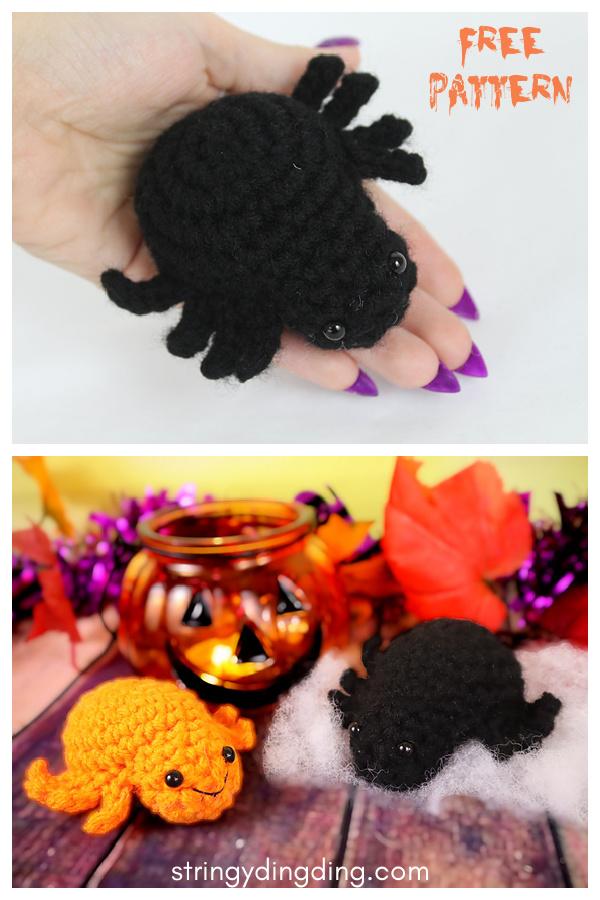 No Sew Spider Amigurumi Free Crochet Pattern