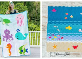Sea Creatures Blanket Crochet Patterns