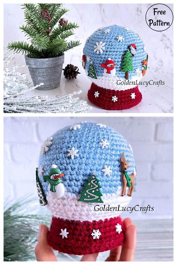 Snow Globe Amigurumi Free Crochet Pattern