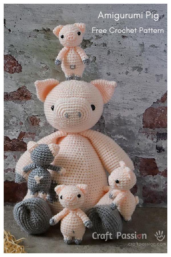 Adorable Amigurumi Pig Free Crochet Pattern