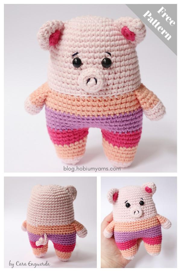 Amigurumi Apricot the Pig Free Crochet Pattern