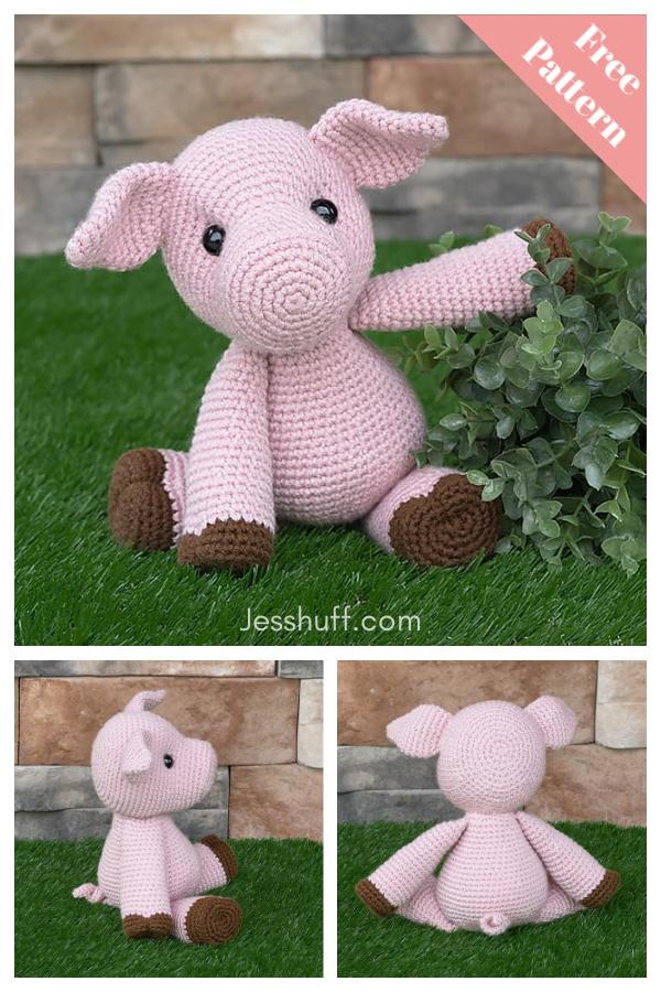 Amigurumi Paisley the Pig Free Crochet Pattern