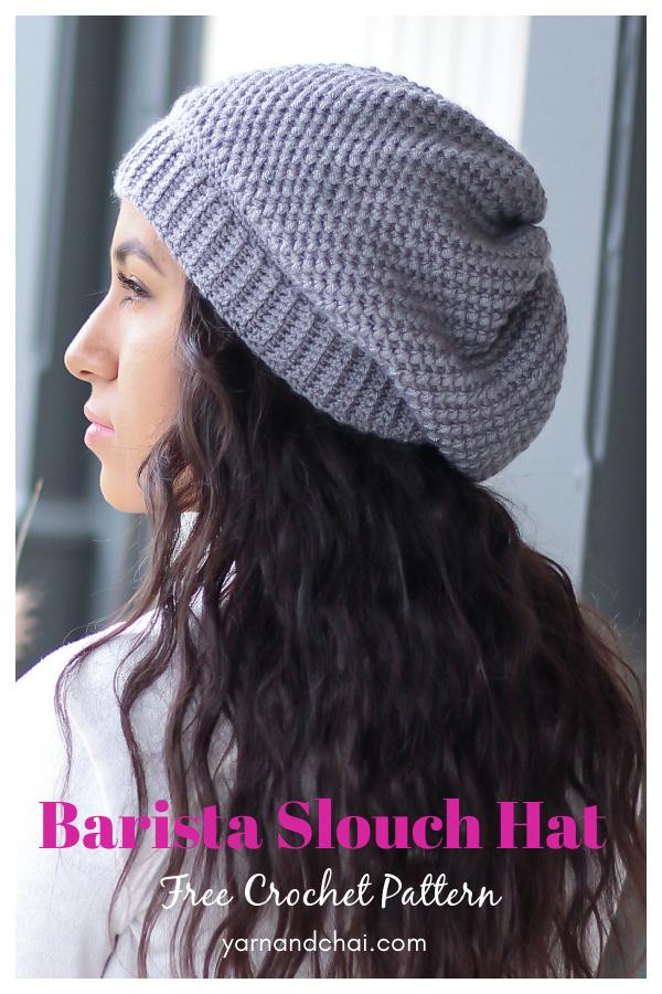 Barista Slouch Hat Free Crochet Pattern