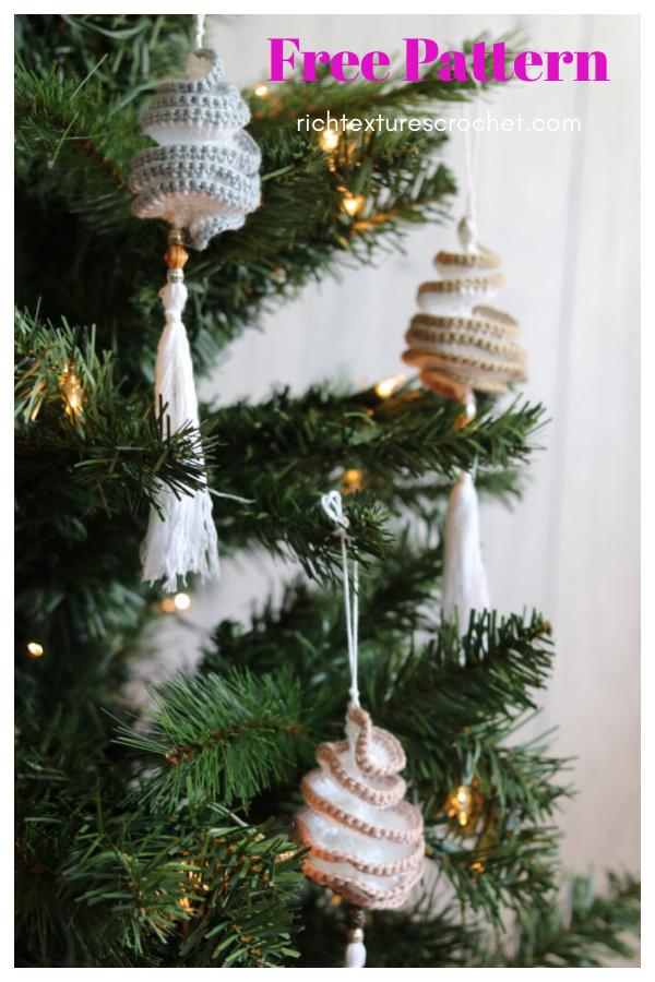 Boho Spinner Ornament Free Crochet Pattern