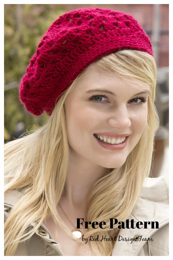 Bridgette Beret Free Crochet Pattern