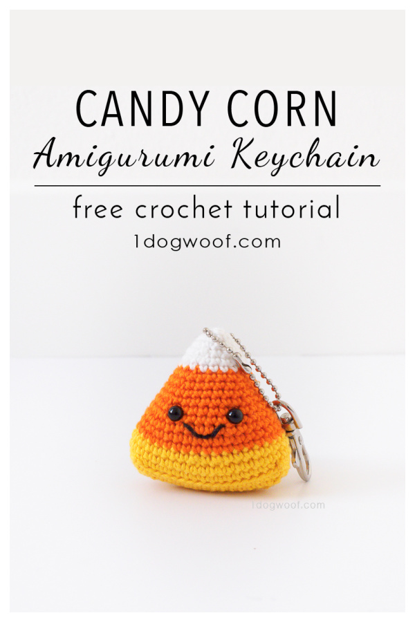 Candy Corn Amigurumi Keychain Free Crochet Pattern