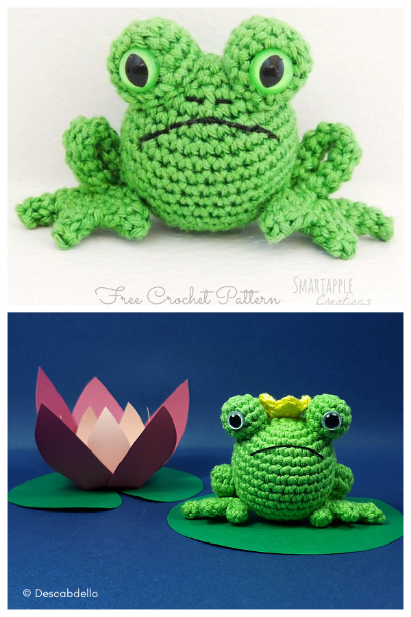 Fred the Amigurumi Frog Free Crochet Pattern