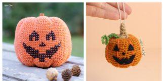 Jack-O-Lantern Pumpkin Free Crochet Pattern