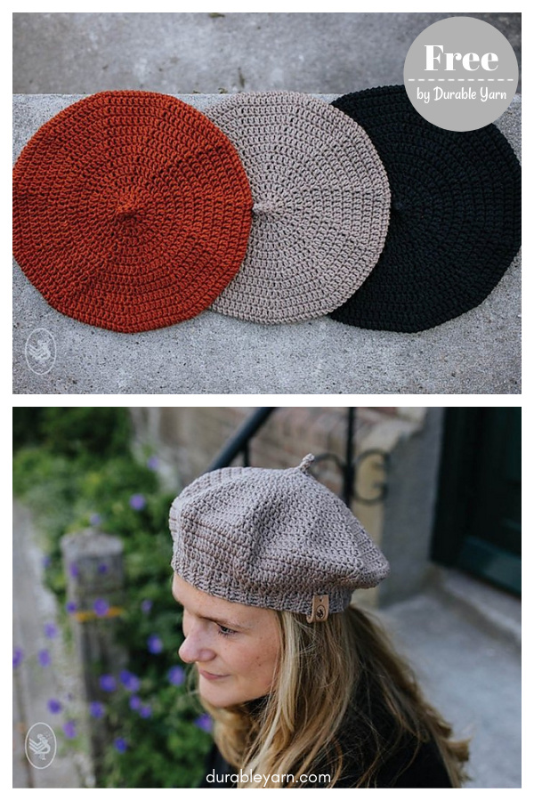 Ladies Beret Free Crochet Pattern