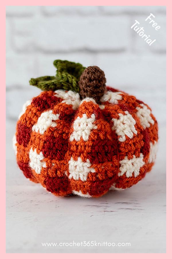 Plaid Pumpkin Free Crochet Pattern
