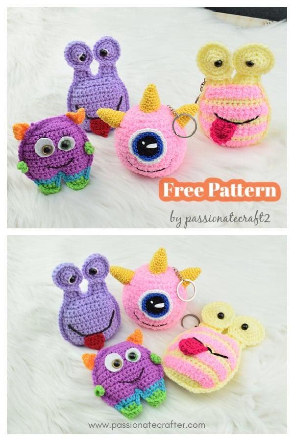 Pocket Monsters Halloween Keychain Free Crochet Pattern