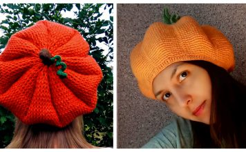 Pumpkin Beret Hat Crochet Patterns