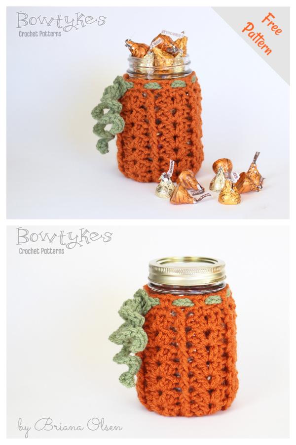 Pumpkin Jar Cozy Free Crochet Pattern
