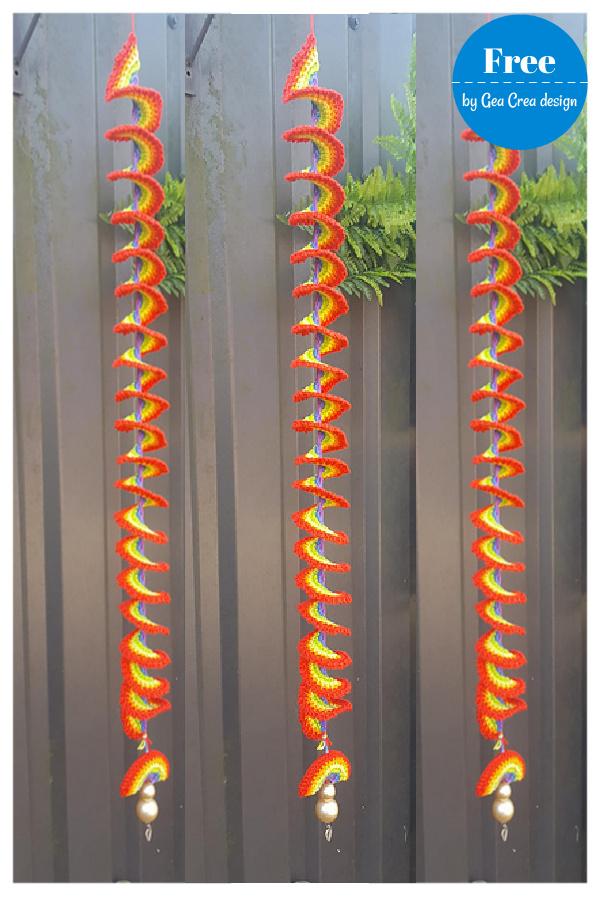 Rainbow Wind Spinner Free Crochet Pattern