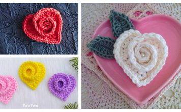 Rose Heart Free Crochet Pattern