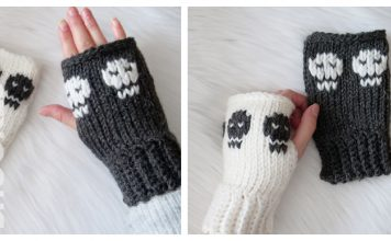 Skull Hand Warmers Free Crochet Pattern and Video Tutorial