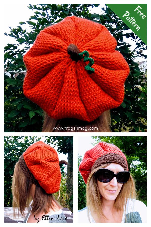 Slouchy Pumpkin Beret Free Crochet Pattern