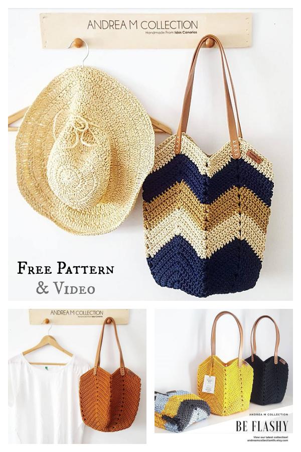 Soft Rope Tote Bag Free Crochet Pattern