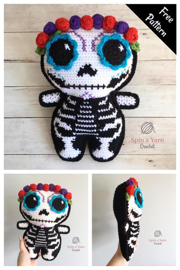 Sugar Skull Amigurumi Free Crochet Pattern