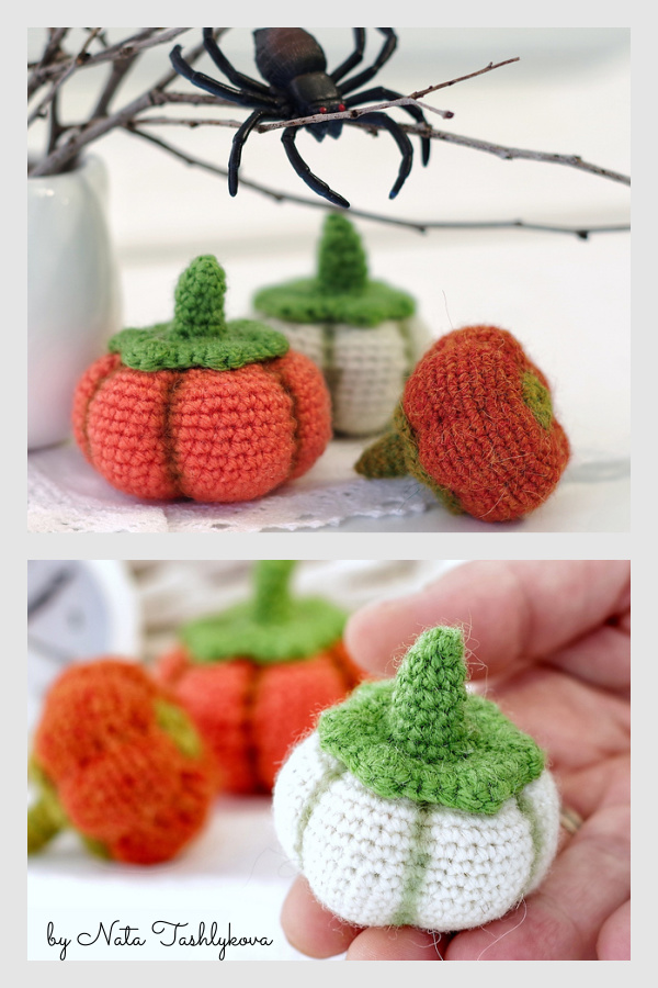 Tiny pumpkins Free Crochet Pattern