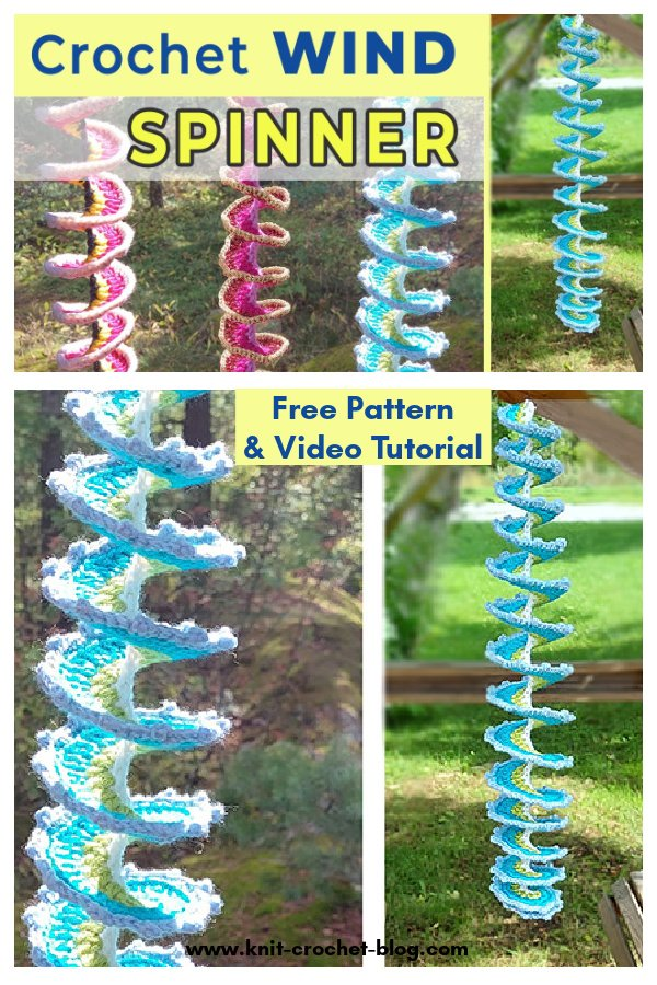 Wind Spinner Free Crochet Pattern and Video Tutorial