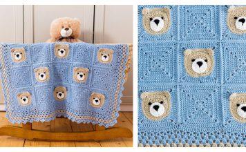 Bear Baby Blanket Free Crochet Pattern