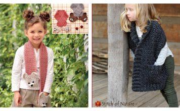 Children's Pocket Scarf Crochet Patterns