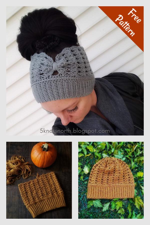 Chauffe-oreilles ou bonnet au crochet gratuit