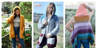 Easy Hooded Cardigan Crochet Patterns