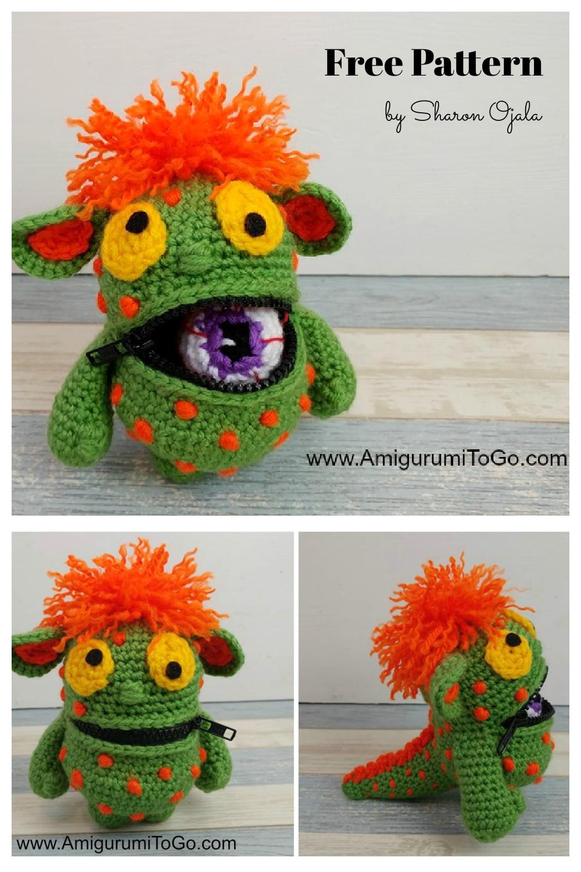 Eyeball Eating Monster Free Crochet Pattern